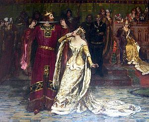 Albert Chevallier Tayler - Ceremony of the Garter painted 1901. Source: Collection of C.Michael Hogan