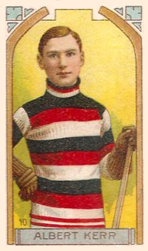 Albert Kerr - Albert Kerr with the Ottawa Senators on an Imperial Tobacco hockey card.