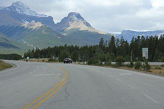 Alberta Highway 11 - Image: Alberta Highway 11 west terminus