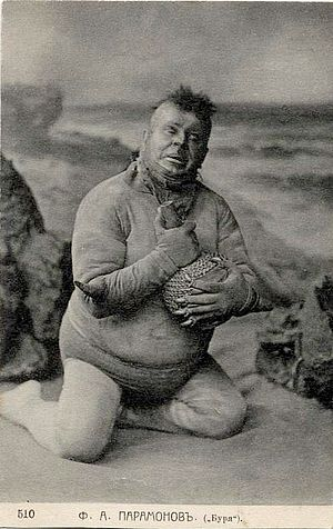 Caliban - Fyodor Paramonov as Caliban in The Tempest, Maly Theatre, 1905