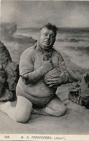 Caliban - Fyodor Paramonov as Caliban in The Tempest, Maly Theatre, 1905