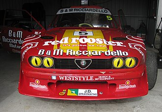 National Sports Sedan Series - The Alfa Romeo GTV of Tony Ricciardello at Mallala Motor Sport Park for the opening round of the 2011 Kerrick Sports Sedan Series. Ricciardello has won the Australian Sports Sedan Championship four times and the National Sports Sedan Series five times.