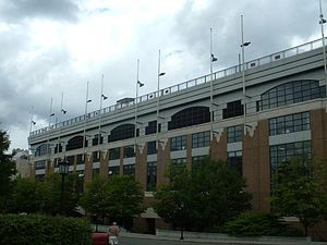 Alumni Stadium - Alumni Stadium's south façade, facing Beacon Street.