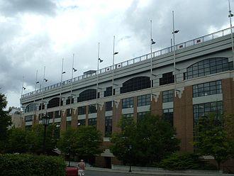 Alumni Stadium - Alumni Stadium's south façade, facing Beacon Street.