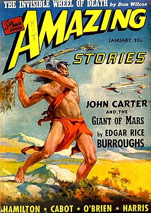"""John Carter of Mars (collection) - """"John Carter and the Giant of Mars"""" was the cover story in the January 1941 Amazing Stories"""