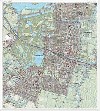 Amstelveen - Topographic map of Amstelveen, September 2014