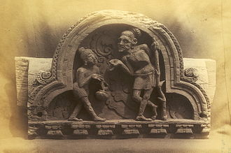 Kashmir Smast - One of the wooden sculptured panels discovered by Major H.A. Deane in the 1880s that is now in the British Museum, 9th-10th centuries AD.