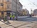 Anděl, Pražský maraton, barikáda.jpg