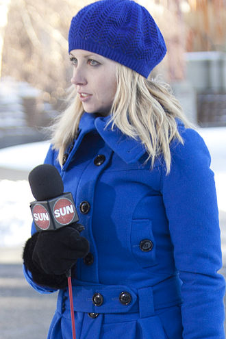 Andrea Slobodian - Slobodian reporting for Sun News from Olympic Plaza (Calgary) on December 9, 2011