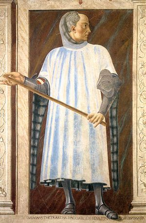 Niccolò Acciaioli - Fresco of Niccolò Acciaiuoli by Andrea del Castagno in the Uffizi.