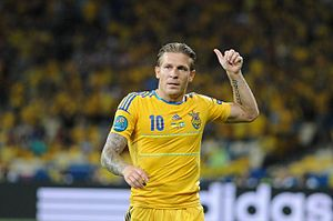 Andriy Voronin - Voronin playing for Ukraine at UEFA Euro 2012.