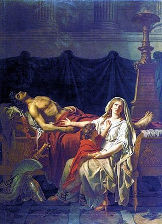 Andromache - Andromache Mourning Hector by Jacques-Louis David, 1783