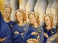 Anonimo inglese o francese, dittico wilton, 1395-99 ca. 06 madonna col bambino e 11 angeli 4.jpg