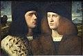 Anonimo veneziano, ritratto di due giovani, 1510 ca. 2.JPG
