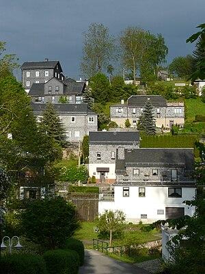 Wurzbach - Image: Ansicht Wurzbach an der Sormitz