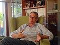 Antón Costas na súa casa de Matamá durante a entrevista.jpg