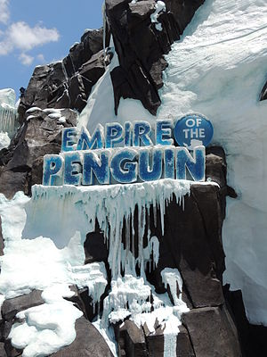SeaWorld Orlando - Image: Antarctica Empire of the Penguin entrance 1