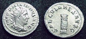 Philip the Arab - Cippus commemorating Roman Millennium.