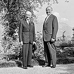 Antonio Segni and Konrad Adenauer by Giuseppe Moro, August 1959.jpg