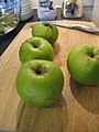 Apples, ready to be made into crumble (8384494947).jpg