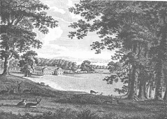 "Appuldurcombe House - ""Appuldurcombe Park, the seat of the Right Honourable Sir Richard Worsley Baronet, Governor and Vice-Admiral of the Isle of Wight"". Engraving published in: Worsley, Sir Richard, History of the Isle of Wight, London, 1781"