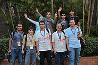 Arabic Wikipedians Wikimania 2013.JPG