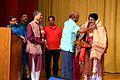 Arabinda Muduli recieving memento from Sunil Jain, Ambassador of India at Embassy of India, Kuwait 04.JPG