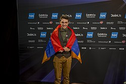 Aram Mp3, ESC2014 Armenia 1st press conference 09.jpg