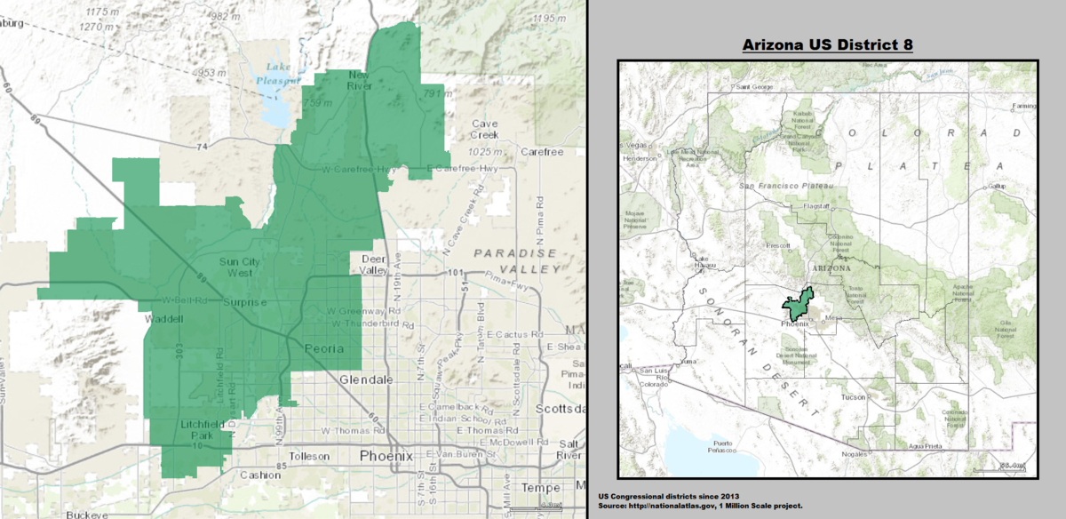 Arizonas Th Congressional District Wikipedia - Us house district 13 map