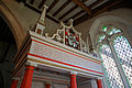 Arkesden Church of St Mary - Richard and Mary Cutte monument entablature, in Essex, England.jpg