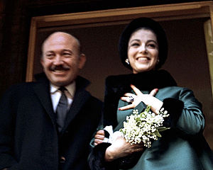 Pier Angeli - Armando Trovajoli and Pier Angeli on their wedding day, London, 14 February 1962