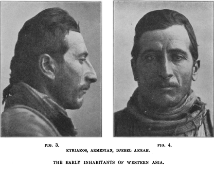 An Armenian man of Armenoid type, from The Early Inhabitants of Western Asia (1911)