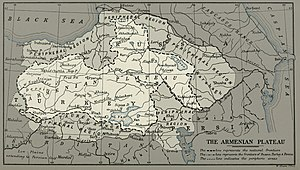 Armenian Highlands - The natural borders of the Armenian plateau according to H. F. B. Lynch, 1901