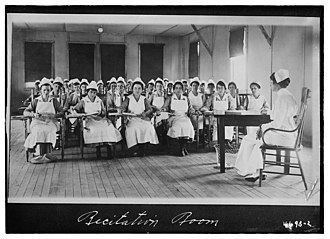 Camp Wadsworth - Recitation room, Army School of Nursing, Camp Wadsworth, South Carolina.