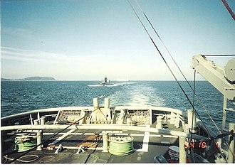 USS Woodrow Wilson (SSBN-624) - Image: Ars 52 towing ssbn 624
