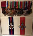 Arthur Blackburn's original medals on public display at the Australian War Memorial, Canberra.jpg