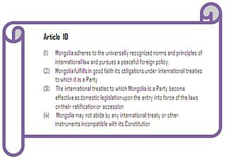 Administrative law in Mongolia - Article 10 of 1992 Constitution of Mongolia