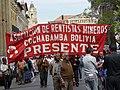 Asociación de Rentistas Mineros march in Cochabamba.jpg