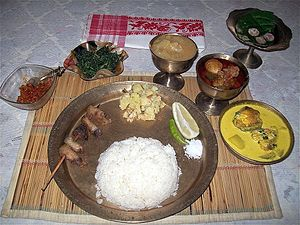 Indian cuisine - Assamese Thali