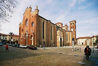 Asti - The cathedral of Asti.