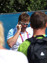 At the olympic rowing regatta.JPG