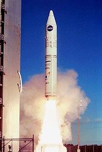Athena 1 rocket launching from Kodiak Island.jpg