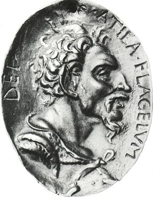 Attila. Bronze medal after an antique original.