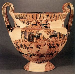 Conservation and restoration of ancient Greek pottery - Attic Black-Figure Volute-Krater, known as the Francois vase, ca. 570-565 BCE