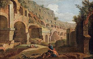 Capriccio - interior of the Colosseum, Rome