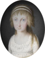 Attributed to Tresca - Portrait of a daughter of Ferdinand IV of Naples - Condé.png