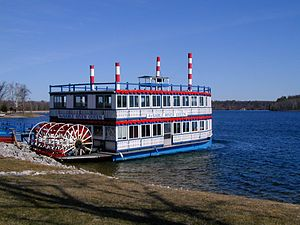 Au Sable River (Michigan) - The Au Sable River Queen, the only paddlewheel river boat operating in northern Michigan