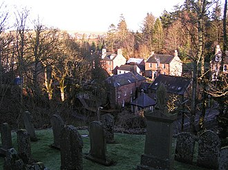 Auchenblae - Looking down into Auchenblae from the kirkyard