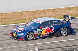 Abt Sportsline - An Audi A4 DTM entered by Abt Sportsline team. Mattias Ekström is pictured driving the car in the 2009 Deutsche Tourenwagen Masters