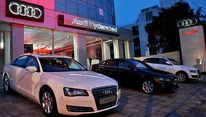 Audi India - Audi showroom in Banjara Hills, Hyderabad.